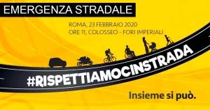 È emergenza stradale: il 23 febbraio tutti a Roma